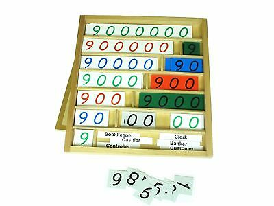NEW Montessori Mathematics Material - Bank Game