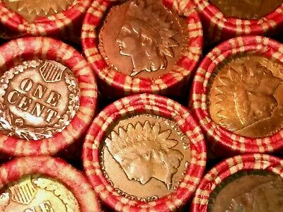 ESTATE SALE ~ INDIAN HEAD ENDS ~ Wheat Rolls Unsearched Cents US Coin Pennies
