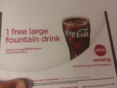 One Free Large Fountain Drink At Amc Movie Theatres
