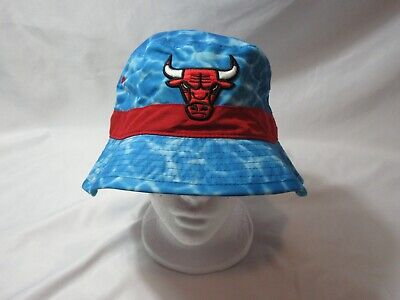 NWT Mitchell & Ness CHICAGO BULLS Surf Camo Ocean Bucket Hat S/M