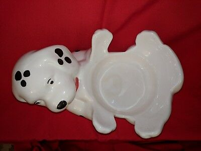 ceramic dog food bowl/dog figure.Hand made in Mexico.