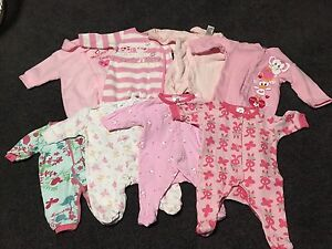 Baby girl onesies - size 0000 - 25 items Glenmore Park Penrith Area Preview