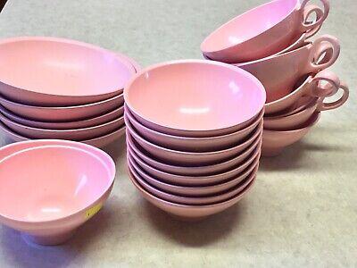 Vintage Boontonware Melamine  21 Pcs Cups, Bowls, Desert Bowl, Misc Bowl