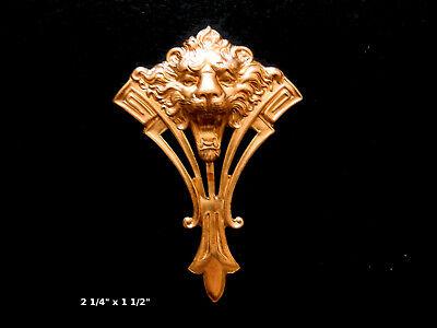 1 piece Oxidized Brass Art Nouveau Style Bird Stamping 79x20mm 114V5