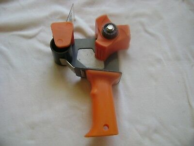 Heavy Duty Tape Dispenser Large Handheld Packing Gun Cutter Orange