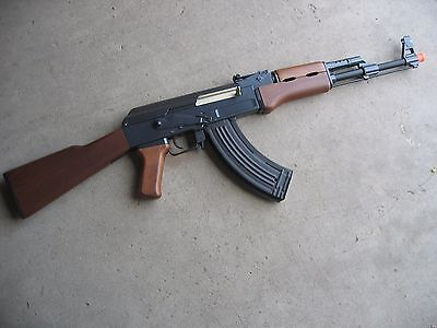 One Airsoft Double Eagle Full Electric Metal AK-47 AEG Airsoft Gun 400 FPS Wood