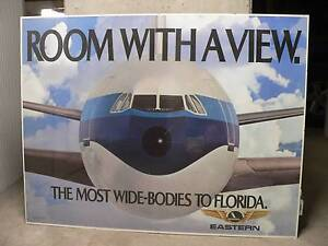 Vintage aviation poster - Eastern Airlines - mounted Braddon North Canberra Preview