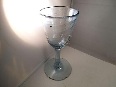 Lovely Ice Blue Glass Wine Water Goblet Swirl