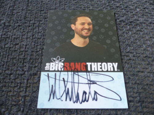 THE BIG BANG THEORY Trading Cards Season 5 signed Autogramm WIL WHEATON