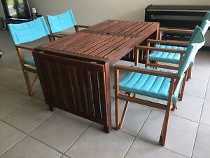 IKEA Extendable Garden Table, ÄPPLARÖ and Chairs