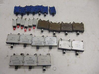 Lot Of 26 Klixon Mechanical Products Potter Aircraft Circuit Breaker Military