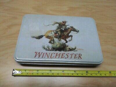 "Vintage "" Winchester"" Horse-Rider tin box."