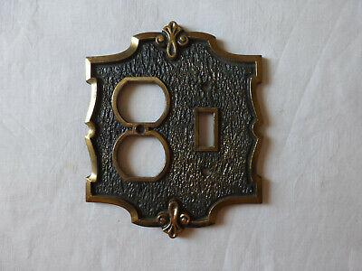 SA AmerTac Outlet Cover Brass Finish Metal Vintage Ornate Durable New USA Seller