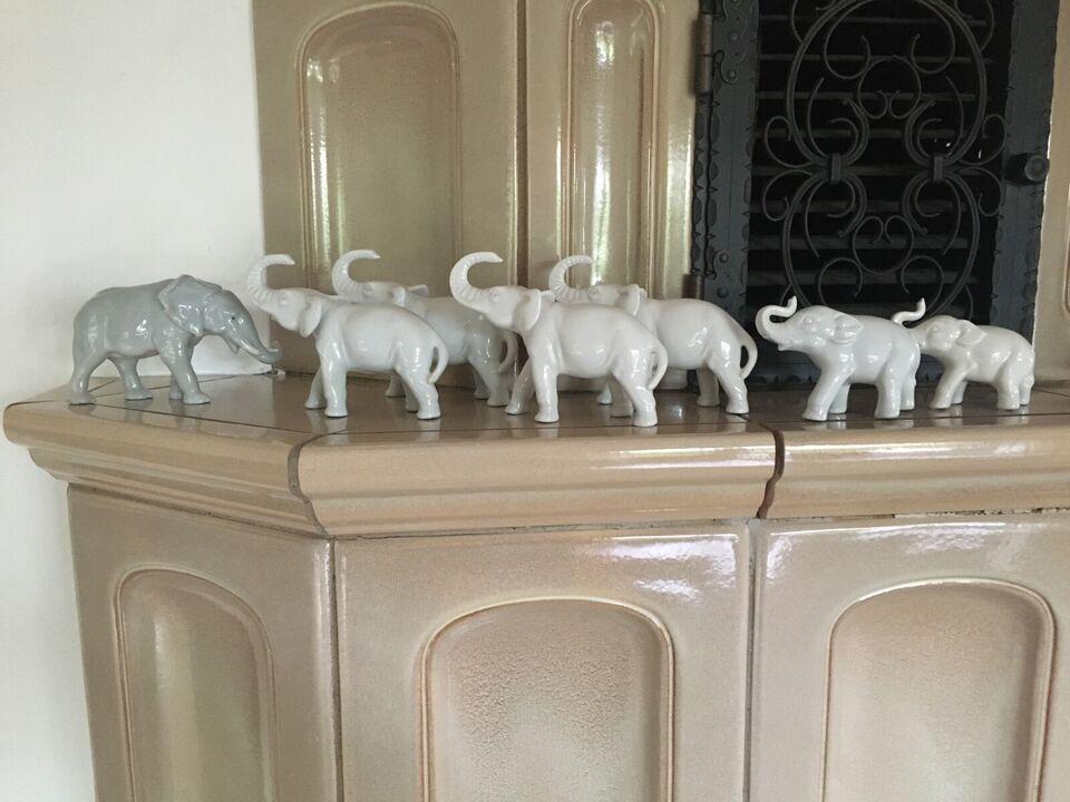 Sieben Porzellan Elefanten von 6,5 cm in bis 9,5 cm in Sachsen-Anhalt - Quedlinburg