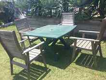 Solid Timber Outdoor Setting Table and Chairs Capalaba Brisbane South East Preview