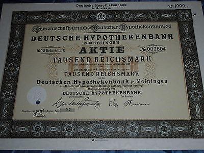 459: histor. Wertpapier /Aktie , Deutsche Hypothekenbank Meiningen ,15.März 1927