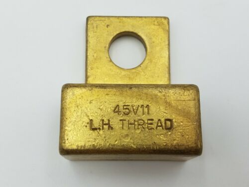 """Weldcraft 45V11 LH Power Cable Adaptor Brass 7/8"""" x 5/8"""" Block 18 20 TIG Torch"""