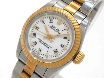 Auth ROLEX Oyster Perpetual 67193 Silver :Women