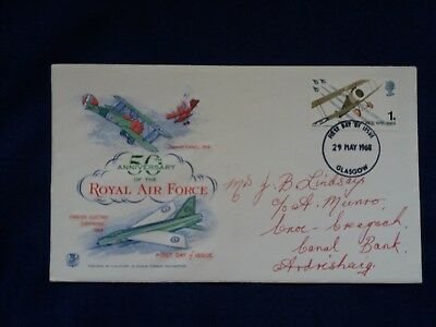Royal Mail First Day Cover FDC stamps 1968 50 Anniversary Royal Air Force