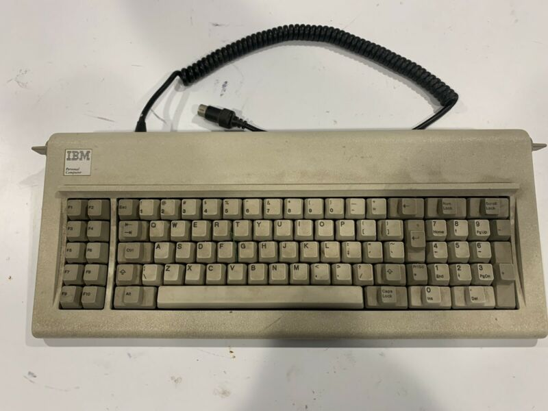 Vintage IBM Model F XT 83 Key Buckling Spring Clicky Keyboard