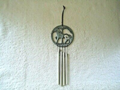 """Vintage 1992 NCE Pewter ? Carousel Horse Wind Chime """" BEAUTIFUL COLLECTIBLE """""""