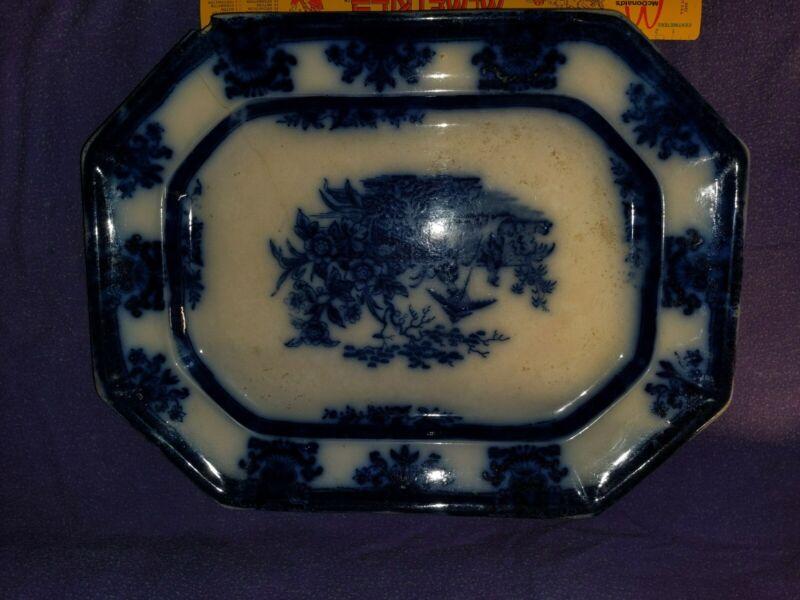 Davenport amoy flow blue platter