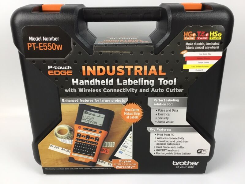 Brother P-Touch Edge PT-E550w Industrial Handheld Labeling Tool with Case