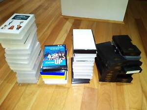 40+ New & Used VHS Video Covers Black White Clear Plastic Sleeves Allawah Kogarah Area Preview