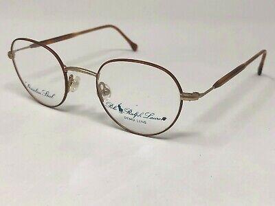 POLO RALPH LAUREN 104 PF9 Eyeglasses Frame Italy 44-20-140 Brown/Gold Matte (Gold Frame Polo Glasses)