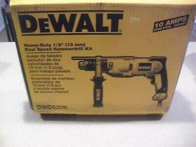 Dewalt 12 Hammer Drill With Case Model Dwd520k