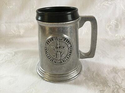 "Vintage Wilton RWP Pewter Beer Tankard Stein Faneuil Hall Mug U.S.A. 5.25"""