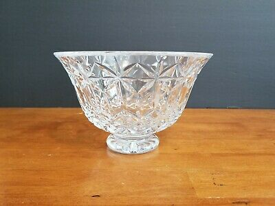 WATERFORD CRYSTAL BALMORAL FOOTED BOWL CENTERPIECE 7 3/4