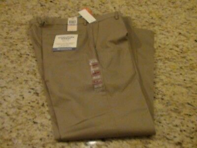 NEW DOCKERS The Best Pressed Signature Khaki Slim Fit Timber Brown Size 38 x