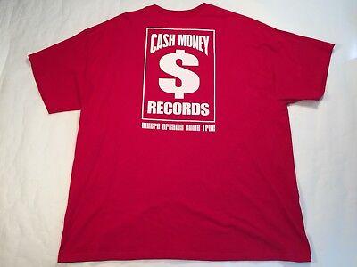 Cash Money Records Red T-Shirt XXL Hanes EUC Pre-Owned YMCMB Lil Wayne Drake