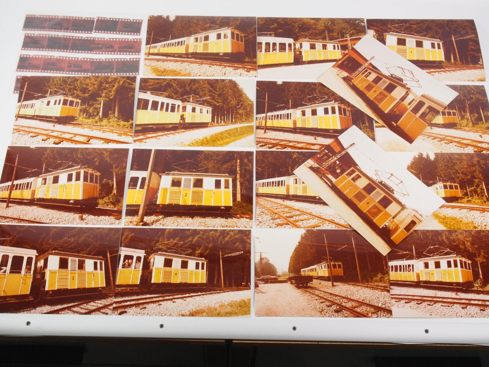 """17 Fotos 13x18 mit Negativen - Wendelsteinbahn 1981 """"Xad01"""