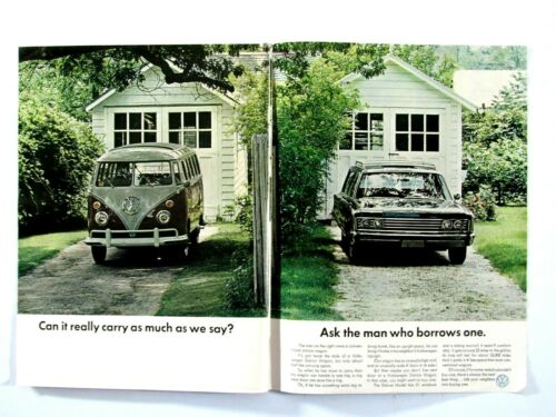 1967 Volkswagen Bus Can It Carry As Much As We Say? Original Print Ad 8.5 x 11""