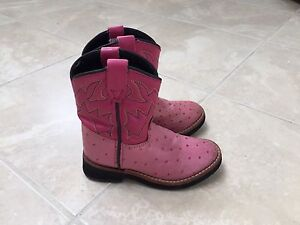 Pink toddler girls cowboy boots size 6.5T