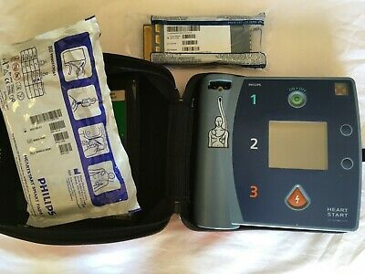 Philips Heartstart Fr2 Aed With Carry Case New 2023 Battery 2021 Pads