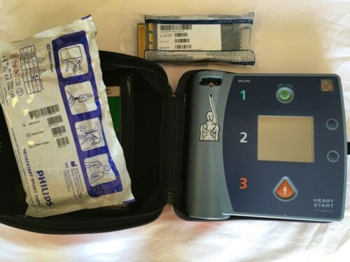 Philips HeartStart FR2+ AED With Carry Case, New 2023 Battery & 2021 Pads