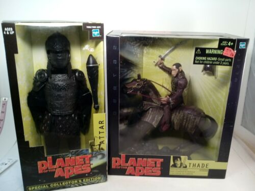 Planet of the Apes Lot of 2 Thade w/Battle Steed & Attar Figure 2001 FREE SHIP L