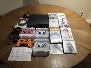 PS3 BUNDLE FOR SALE WITH 17 GAMES & 4 CONTROLLERS!