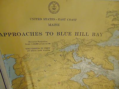 2 Maine Marine Charts US Dept Commerce Coast & Geodetic Survey maps art 917 Marine Charts