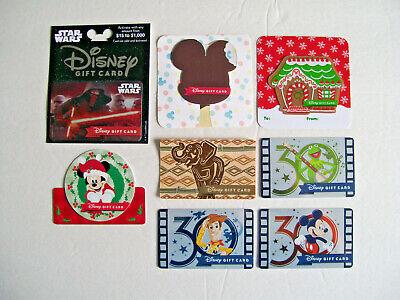 28 Different DISNEY GIFT CARDS COLLECTION - MICKEY MINNIE , STAR WARS , FROZEN - $29.99