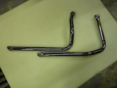 Panhead  Chrome Drag Pipe Set - Drag Pipe Set