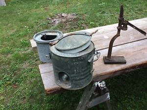 Beer bottle capper and minnow pail