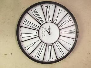 French style metal clock Dural Hornsby Area Preview