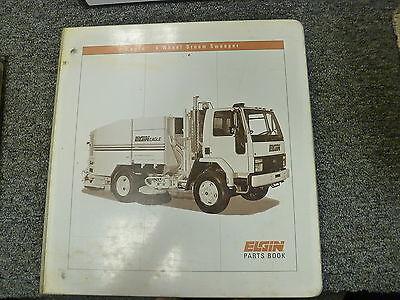 Elgin Models E F Eagle Street Sweeper Truck Parts Catalog Manual Book