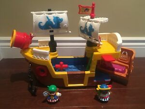 Fisher Price Little People Pirate Ship with Sounds