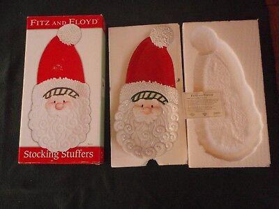 FITZ & FLOYD STOCKING STUFFERS CHRISTMAS SANTA CLAUS SERVER PLATE