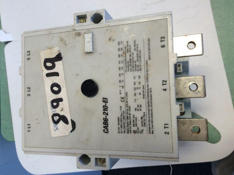 USED ALLEN BRADLEY CONTACTOR IEC 110KW 110/130VAC A-B CAB6-210-EI  11-10  BY